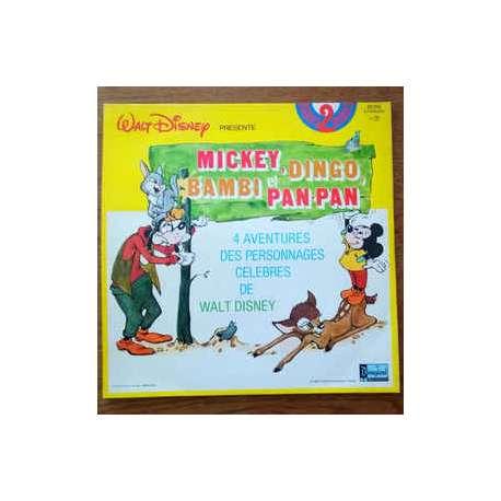 mickey dingo bambi et pan pan 4 aventures des personnages de walt disney